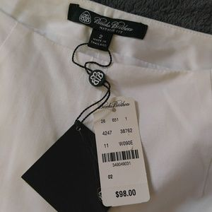 Brooka brothers natalie fit white pants size 2